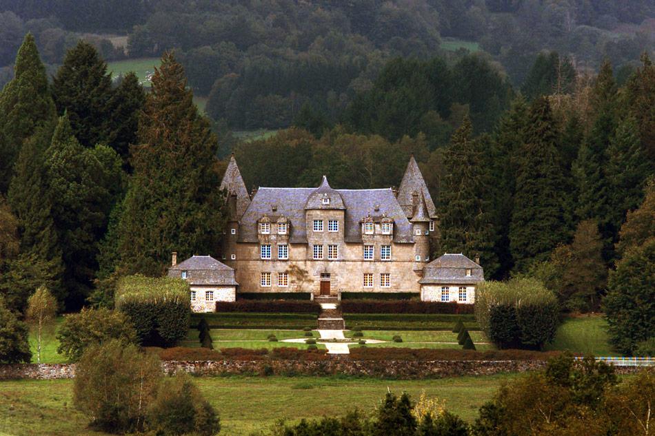 Le château de Bity, propriété des époux Chirac, en Corrèze