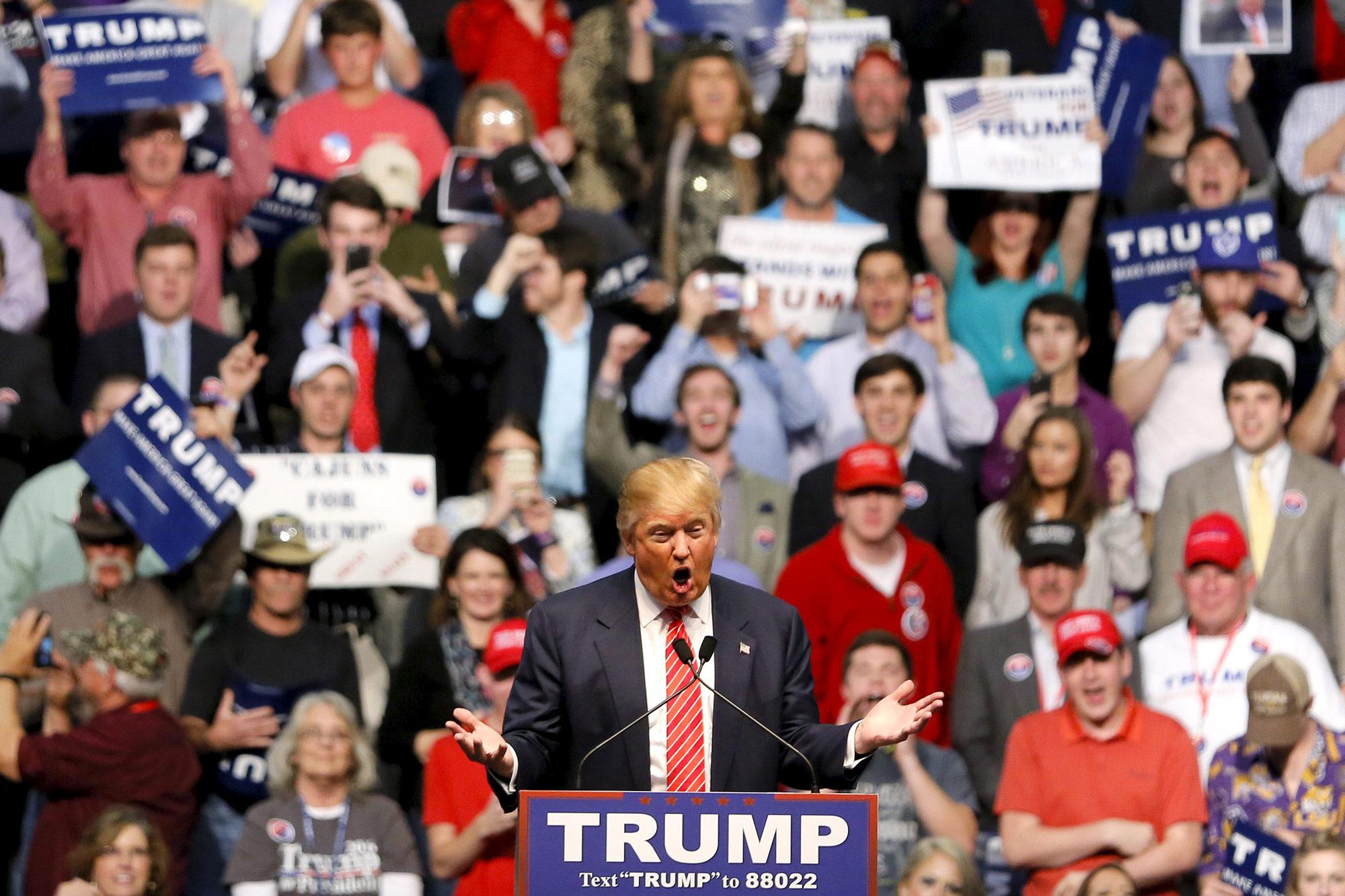 Meeting de Donald Trump à Baton Rouge