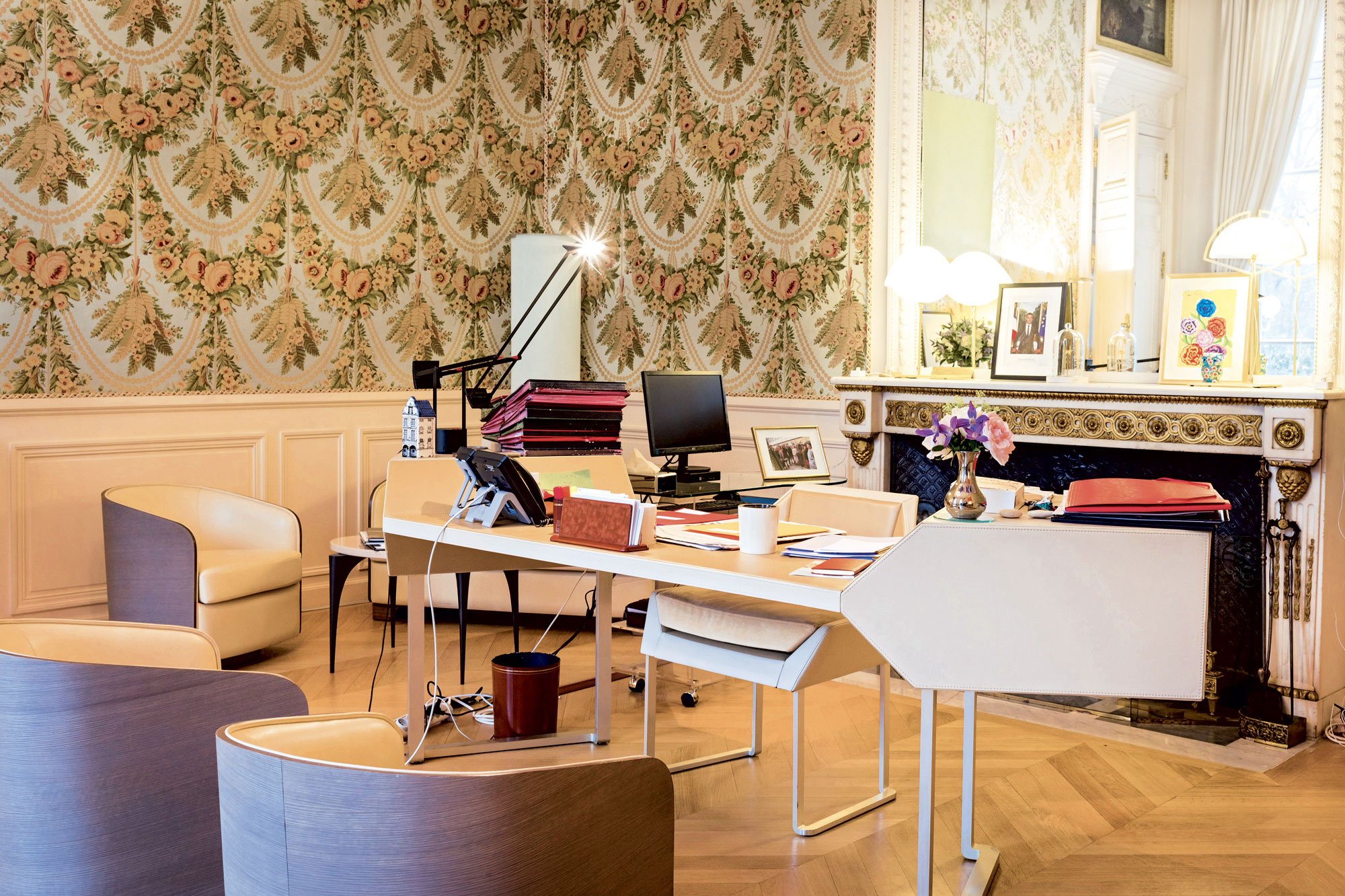 Le bureau de Brigitte Macron à l'Elysée