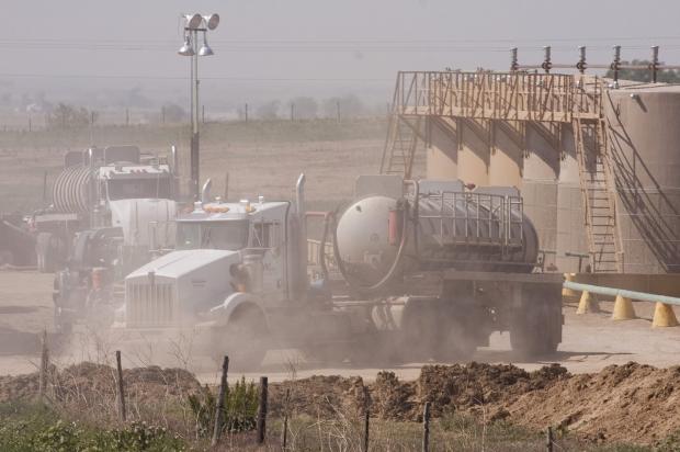 Camion Gaz de schiste Gisement