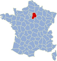 Carte de France Seine et Marne-