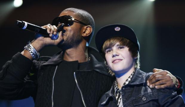 Justin Bieber et Usher-