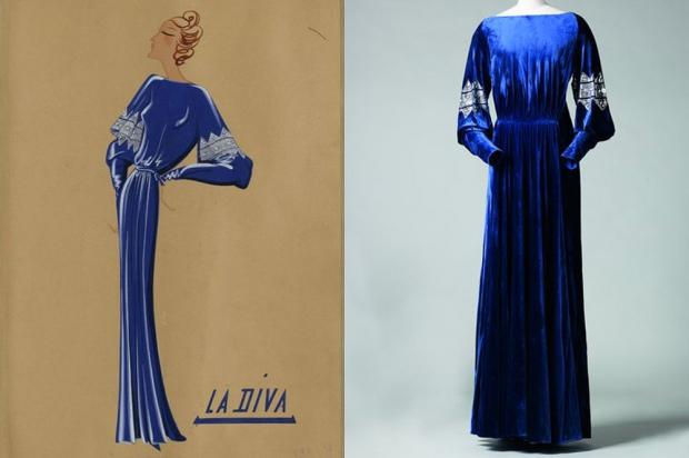 Le bleu Lanvin, robe La Diva