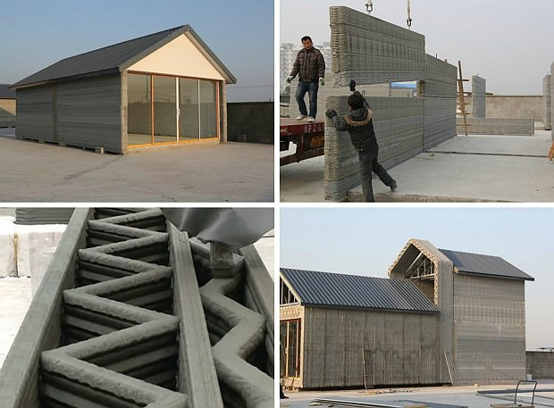 Un toit pour 3500 euros une maison en 24 heures avec une for Construire sa maison 3d