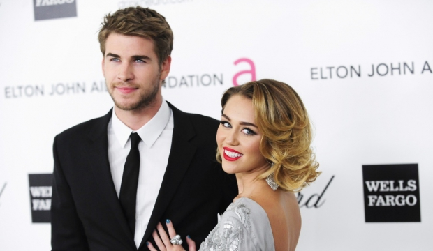 Miley Cyrue Liam Hemsworth-