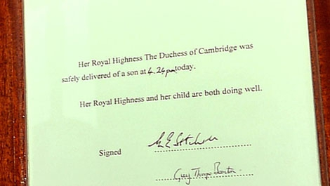 Note Royal Baby