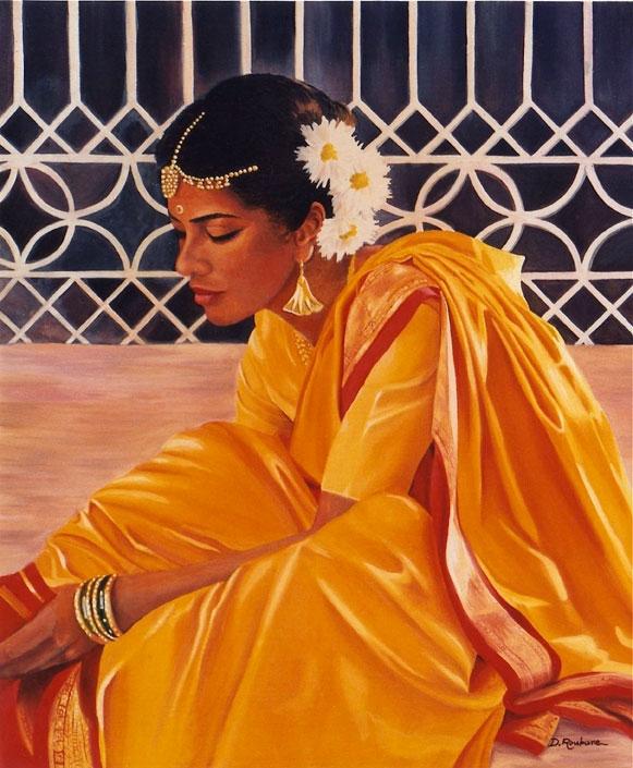 portrait-indienne_peint-par-Deborah-Roubane-