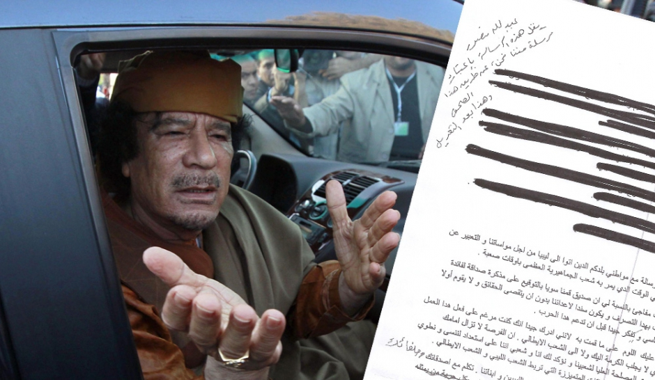 Exclusif. Le dernier message de Kadhafi à l'Occident