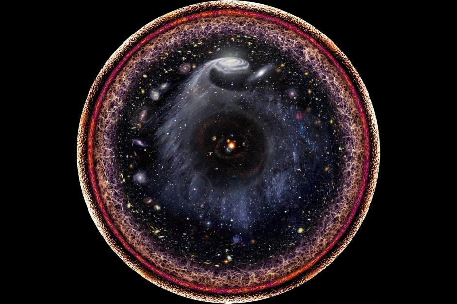le cosmos dans un cercle tout l 39 univers sur une photo. Black Bedroom Furniture Sets. Home Design Ideas