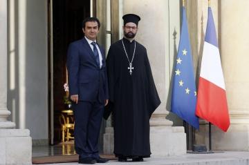 Avec Grigorios Ioannidis, vicaire général pour la métropole orthodoxe grecque en France