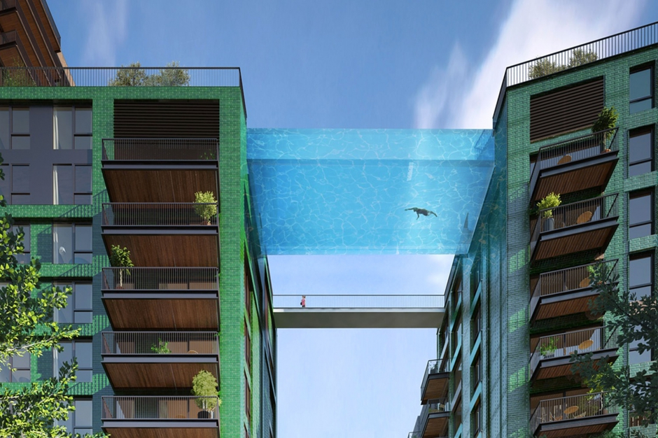 Pr vue pour 2018 sky pool la piscine dans le ciel for La piscine pool