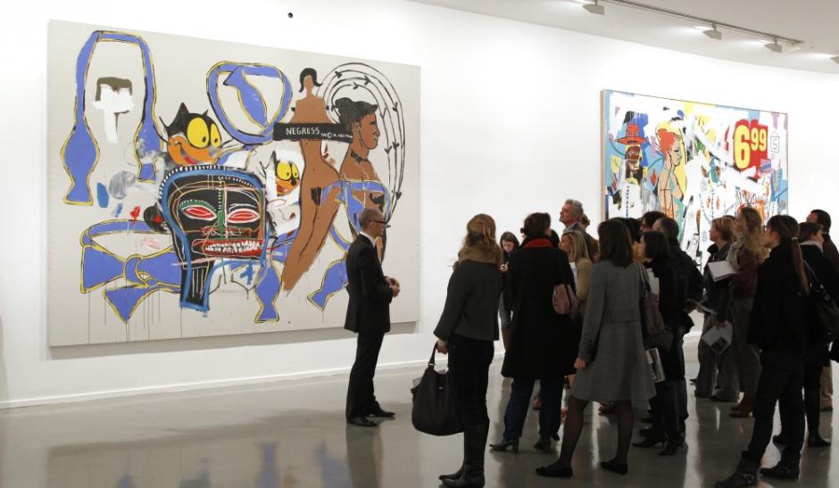 l 39 exposition basquiat s 39 ouvre paris paris match. Black Bedroom Furniture Sets. Home Design Ideas