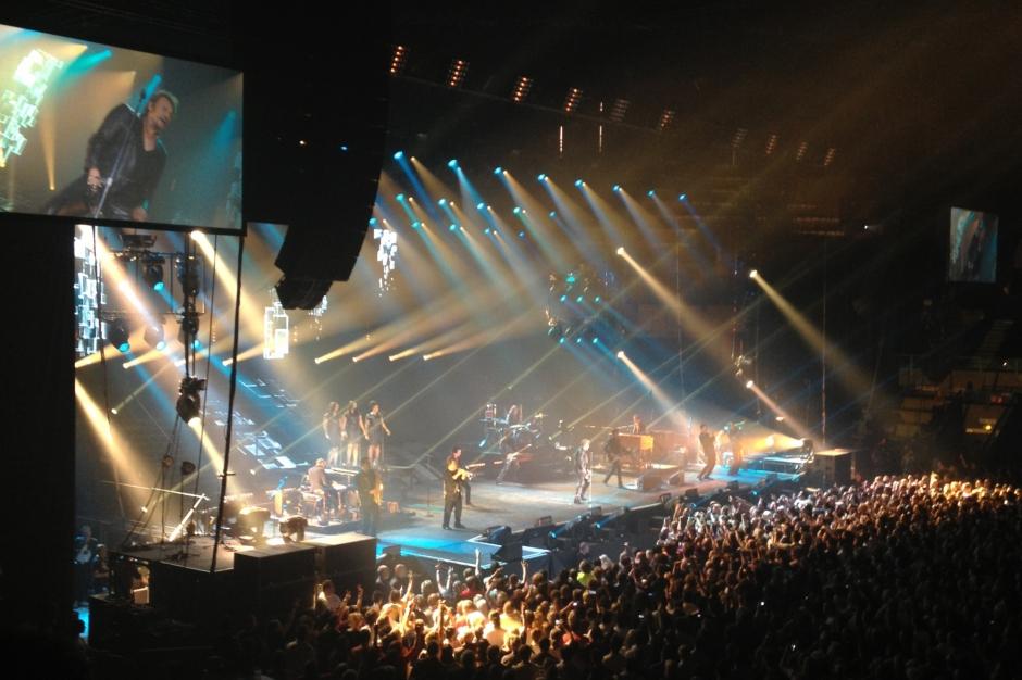 Hier soir à Bordeaux… Johnny Hallyday