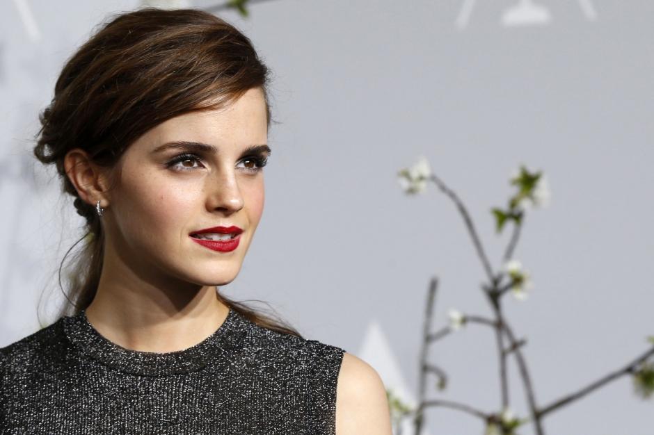 Emma Watson en mars dernier, lors de la cérémonie des Oscars ...