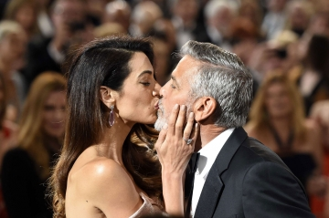 George et Amal Clooney, deux amoureux sur le tapis rouge
