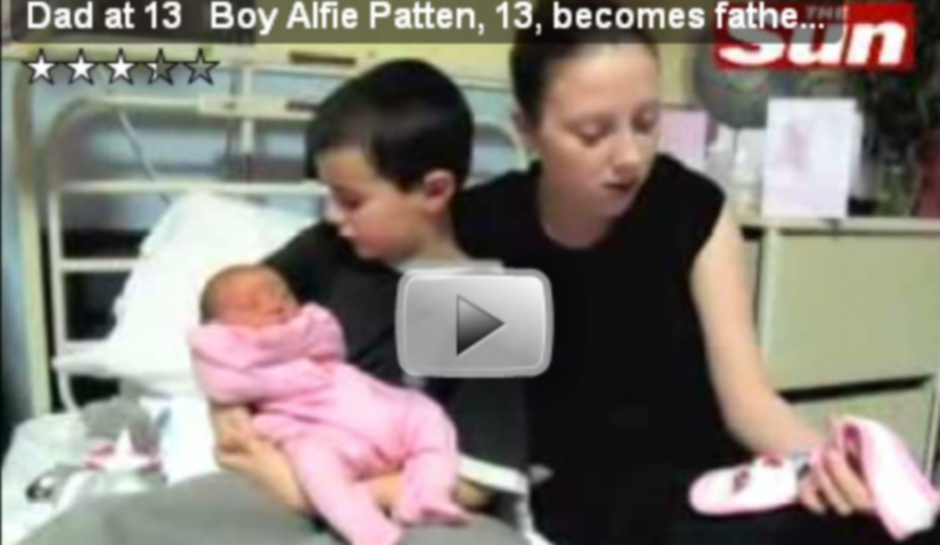 Alfie Patten n'est pas le plus jeune père de GB  Alfie Patten n&...