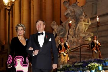 Maxima et Willem-Alexander, avec les compliments de leurs Majestés