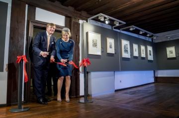 La reine Maxima et le roi Willem-Alexander des Pays-Bas à Nuremberg, le 14 avril 2016