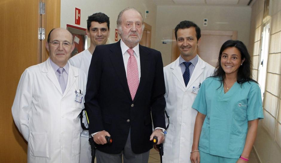 Le roi d'Espagne Juan Carlos s'est fracturé la hanche