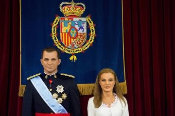 photos royal blog les statues de cire du roi felipe vi de la reine letizia et de la princesse leonor devoilees au museo de cera de madrid