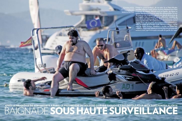James Foley, le prince Saoudien, Philippine de Rothschild au sommaire de Paris Match.